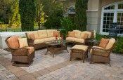 Beautiful cane outdoor furniture for the veranda.