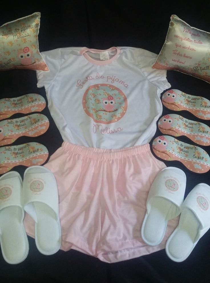 Kit Festa do Pijama Luxo   J3S Personalise Lembranças   Elo7