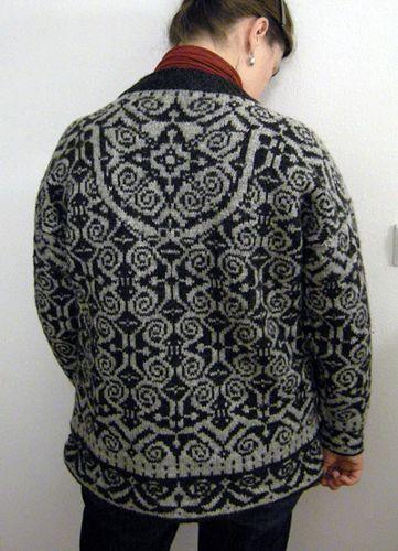 Norwegian sweater back by cashmerecafe, on Ravelry ...