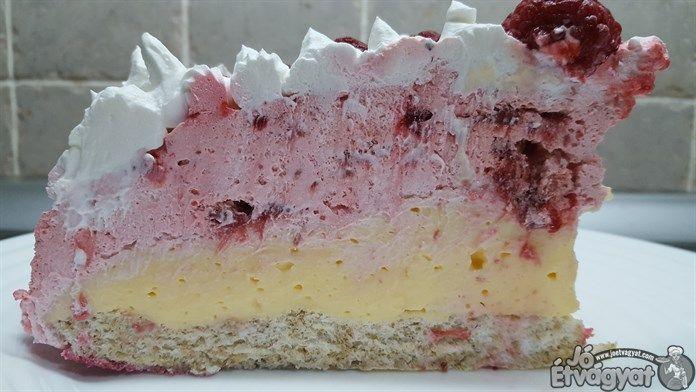 Epres-málnás pudingos torta