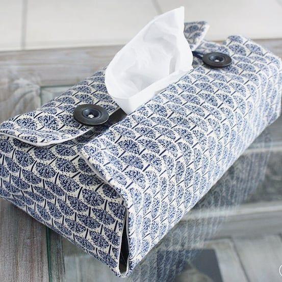 Couture facile – DIY housse boite à mouchoirs