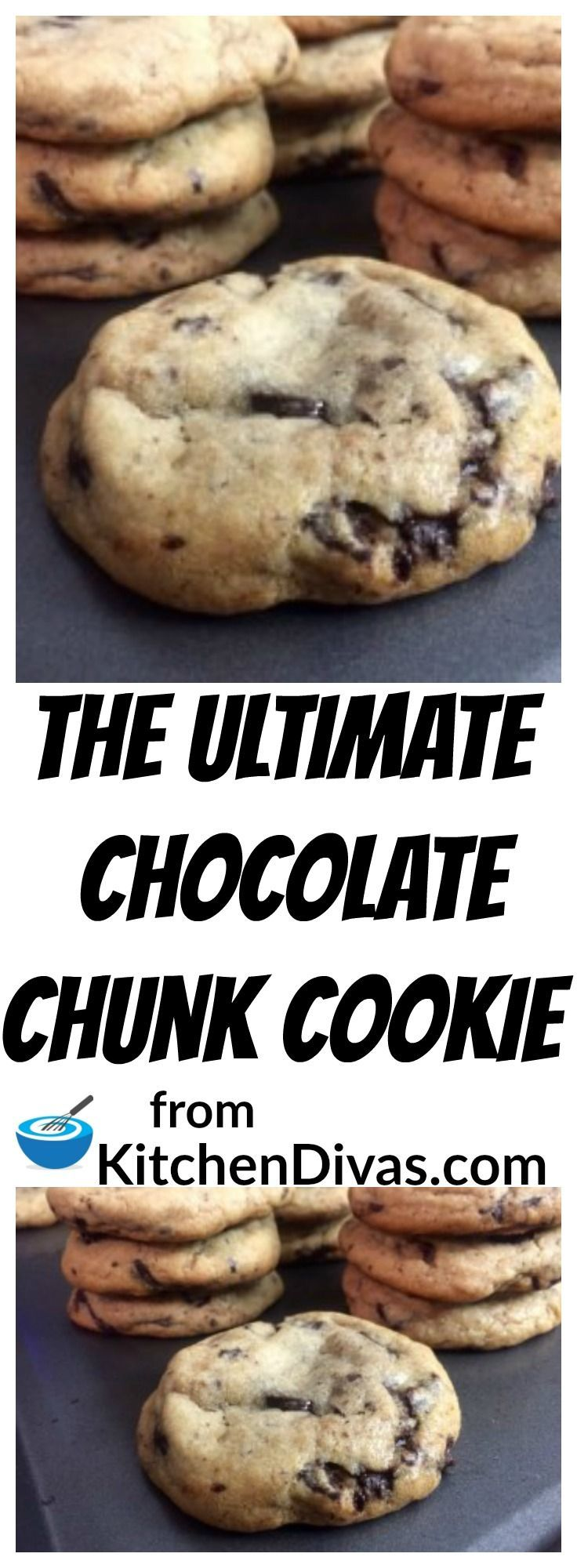 These cookies are perfection. They are soft, thick and chewy. They melt in your mouth. Whether you use chocolate chips, Skor bits or our favorite, broken chunks of chocolate you will love these cookies. They care called the Ultimate Chocolate Chunk Cookie for a reason! They are super easy and quick to make. They keep in an airtight container for about three days and freeze beautifully. We always try to keep some around just in case the mood strikes us!
