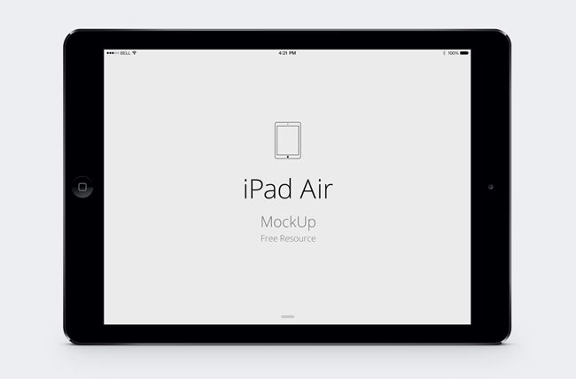 iPad Air Psd Vector Mockup (PSD) | Design: Mockups and Frames ...