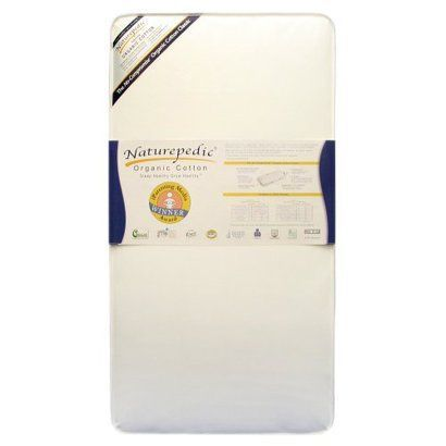 Naturepedic Organic Cotton Crib Mattress: easy-to-clean, non-toxic waterproof surface. This is an excellent choice for parents seeking to eliminate potentially harmful chemicals and allergens. Naturepedic is a GOTS certified organic mattress manufacturer and has earned the trust of moms and doctors across the country. Naturepedic also meets the strictest GREENGUARD certification standards for eliminating chemical emissions. Winner of numerous awards and prestigious endorsements,