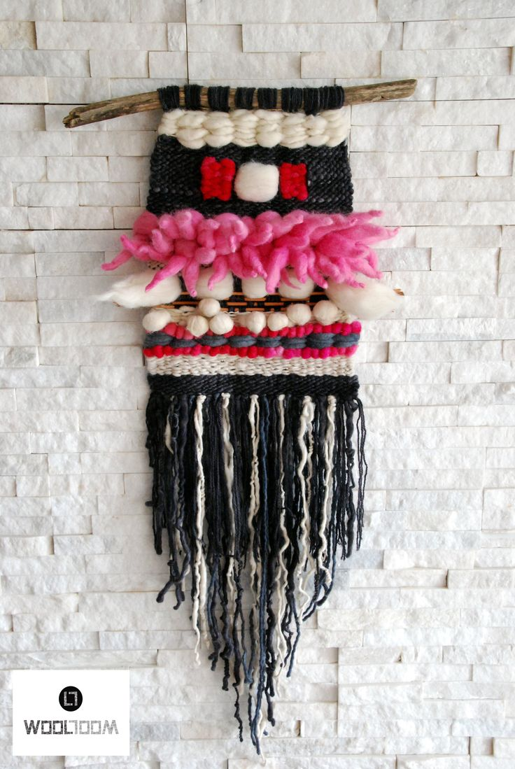 Bull - Toro - Hand woven wall hanging // weaving // telar decorativo made by…