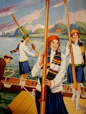 Vintage Women Crew Rowers by The Happy Rower, via Flickr