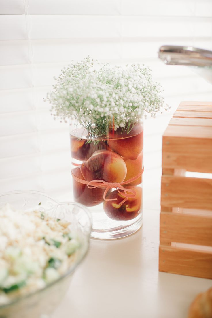 Photography: Tabitha Brawley, Kindled Photography - www.kindledphotography.com Read More on SMP: http://www.stylemepretty.com/living/2015/06/09/sweet-as-a-peach-first-birthday/