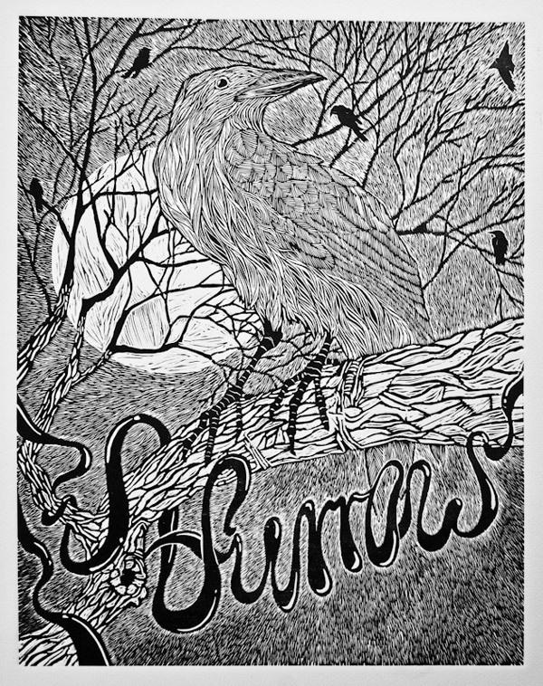 """Furrow"" linocut masterpiece by Piotrek Chuchla."
