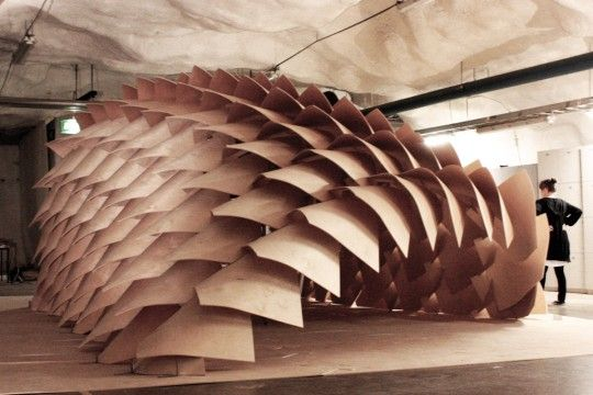 Dragon Skin pavilion, Tampere University of Technology, School of Architecture, Finland