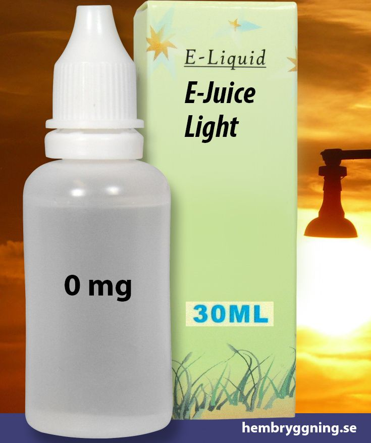 E-Juice Light 30 ml. 0 mg.