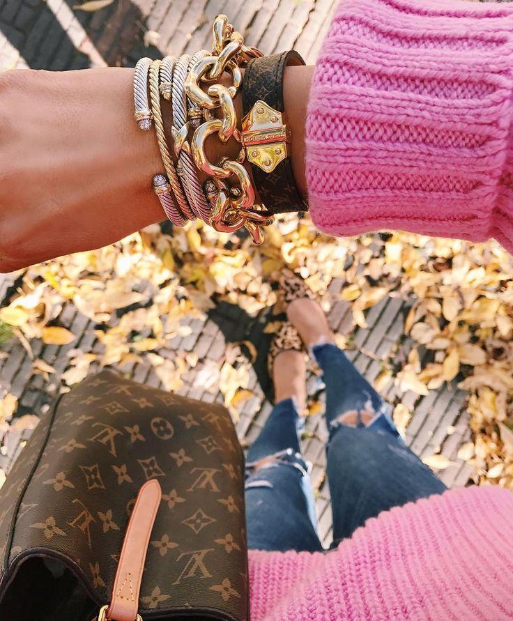 David Yurman & Louis Vuitton Bracelet Stack