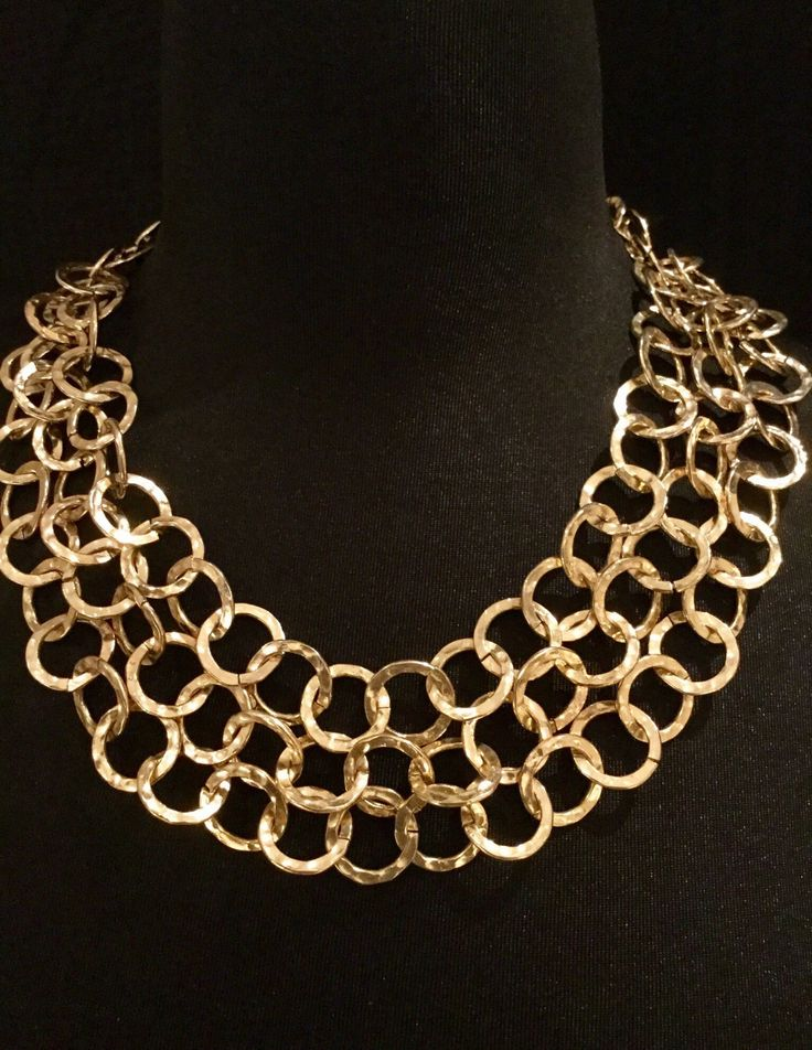 A personal favorite from my Etsy shop https://www.etsy.com/listing/515445007/r-j-graziano-hammered-gold-chain
