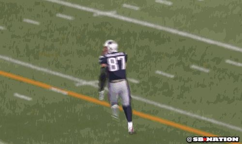 Tom Brady asks Gronk 'How the f*** did you catch that?'