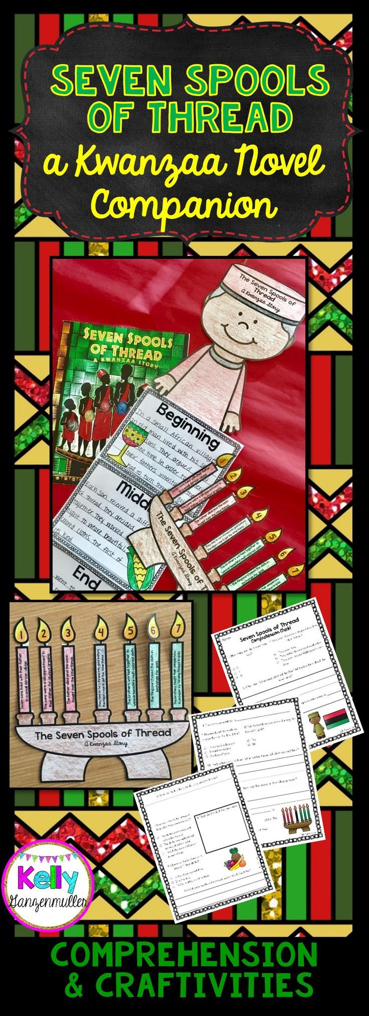 Dig deep in comprehension this winter holiday season with the powerful Kwanzaa story, The Seven Spools of Thread. Integrate ELA and comprehension strategies in your winter holiday unit! Students will be challenged when answering questions that make them critically respond to the text and discover the meaning behind this story of Kwanzaa. Perfect for first grade, second grade and third grade holiday units!