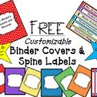 Time to get organized!  These fun and FREE Binder/Divider Covers and Spine Labels are fully editable to suit your teaching needs.  If you enjoy thi...