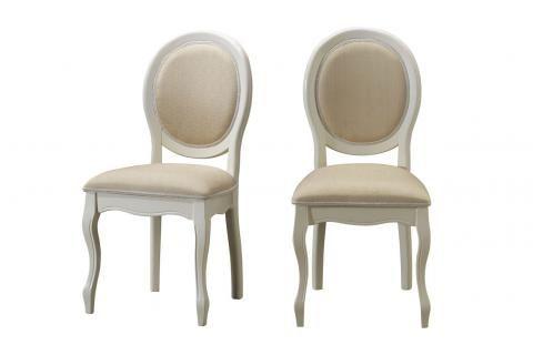 Lot de 2 chaises médaillon en tissu coloris écru ANTOINETTE design pas cher sur SoFactory