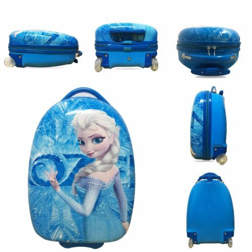 Elsa-Disney-Trolley-Frozen-Suitcase-Child-Blue-Kid-Travel-Luggage-Bag-Case-Light