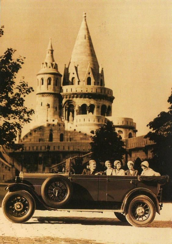 1929, Budapest, at  the Fishermen's Bastion  - Hungary