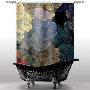 Шторка для ванны «Цветы»