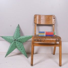 Children's Vintage Plywood Stackable Chairs | blueticking.co.uk | Industrial Seating Solutions | Warehouse Home Design Magazine