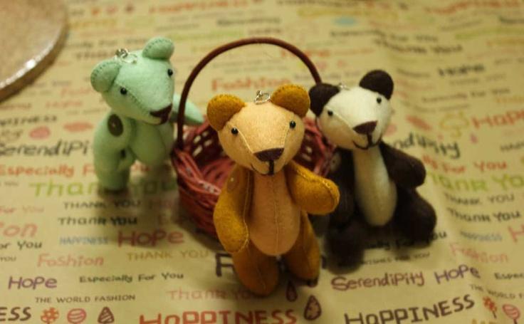 Teddy Bear Joint Key Chain. $8.00, via Etsy.