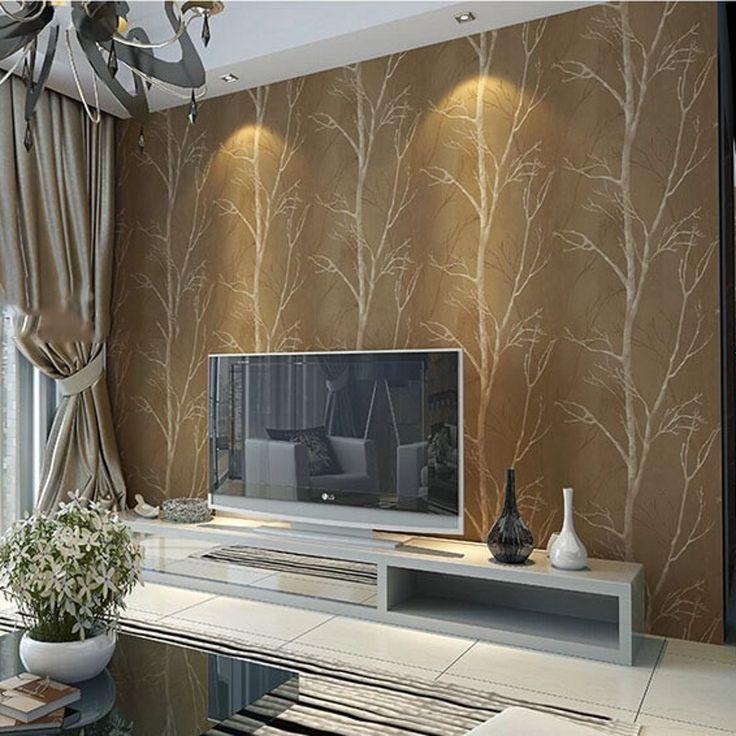 Disegno naturale albero della foresta texture wallpaper roll rivestimento murale boschi di carta da parati sfondo della parete decorazione della casa per soggiorno(China (Mainland))