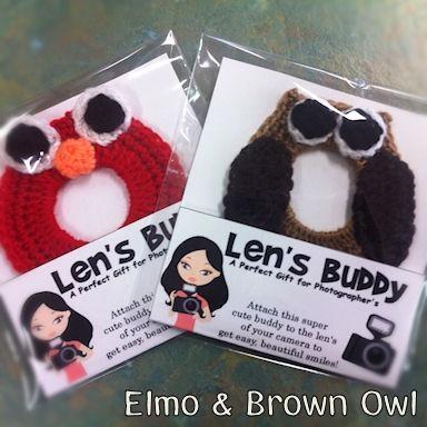 #ladybird2turtle #pinadayoct #handmadeicovet $5.00 Camera Lens Buddy Elmo by LouandMoo on Handmade Australia