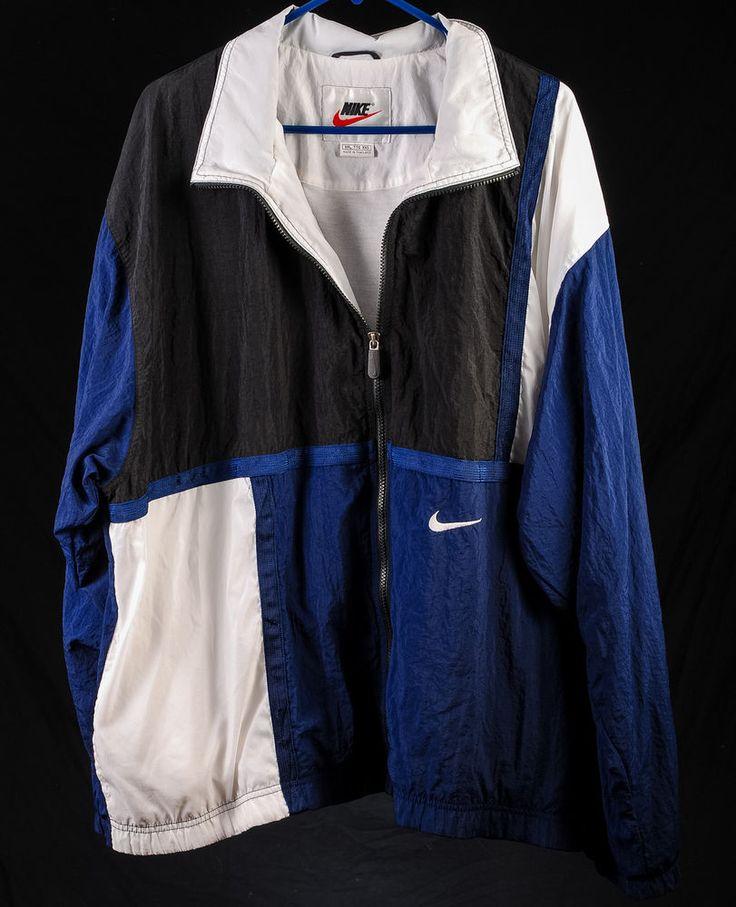 Nike Gloves Rn 56323: Nike RN 56323 Hip Hop Block #Windbreaker Full-Zip Blue
