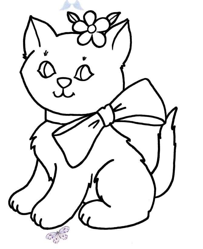 Simple Shapes Coloring Pages Free Printable Simple Shapes Kitty Cat  Coloring Activity Pages For Pre-K And Primary Kids Simple Shapes Coloring  Pages Kitty Ca… I 2020