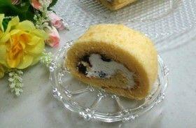 ブルーベリージャム入りロールケーキ