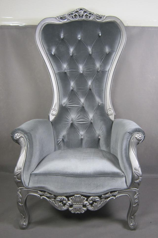 We are now placing custom orders for our Kings chair, your choice of fabric,color,wood trim and with or without crystal buttons. Please visit my sales blog for more info: http://the-mod-spot.blogspot.com/   $999.00