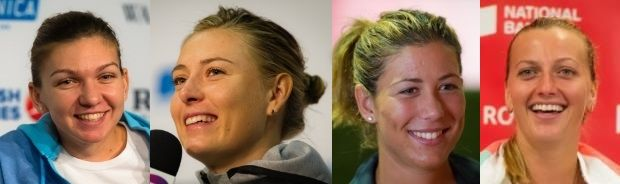 Half-way there! ... Via  Women's Tennis Blog      -  Apr 21, 2015:     First half of the #WTA Finals draw is set: Simona Halep, Maria Sharapova, Garbine Muguruza, Petra Kvitova  http://www.womenstennisblog.com/2015/10/16/overview-first-half-of-the-wta-finals-draw/
