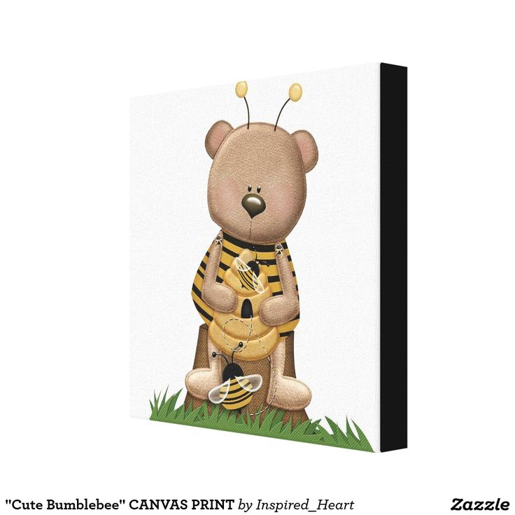 Shop Cute Bumblebee CANVAS PRINT Created By Inspired Heart