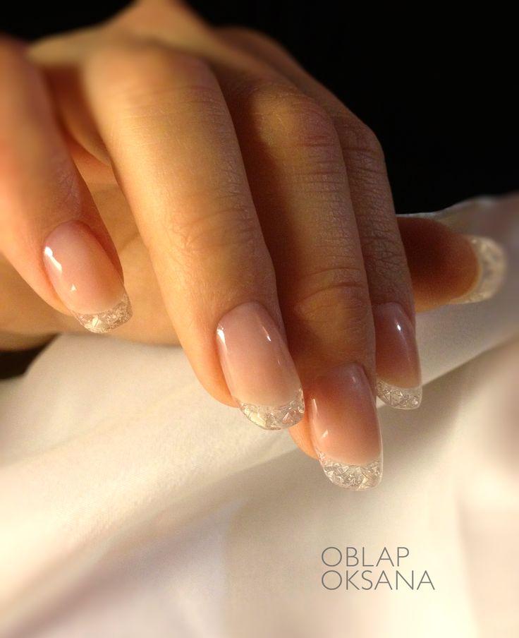 Crystal nail, Christmas nail subtle