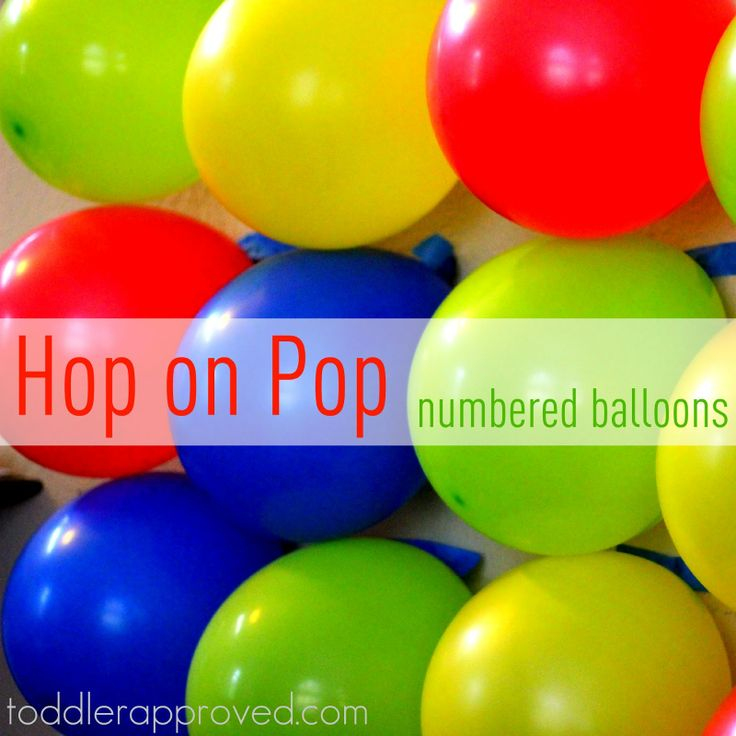 Toddler Approved!: Hop on Pop- Numbered Balloons Game & Dr. Seuss Linky!