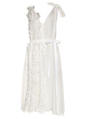 Flower-appliqué sleeveless midi dress | Rochas | MATCHESFASHION.COM UK