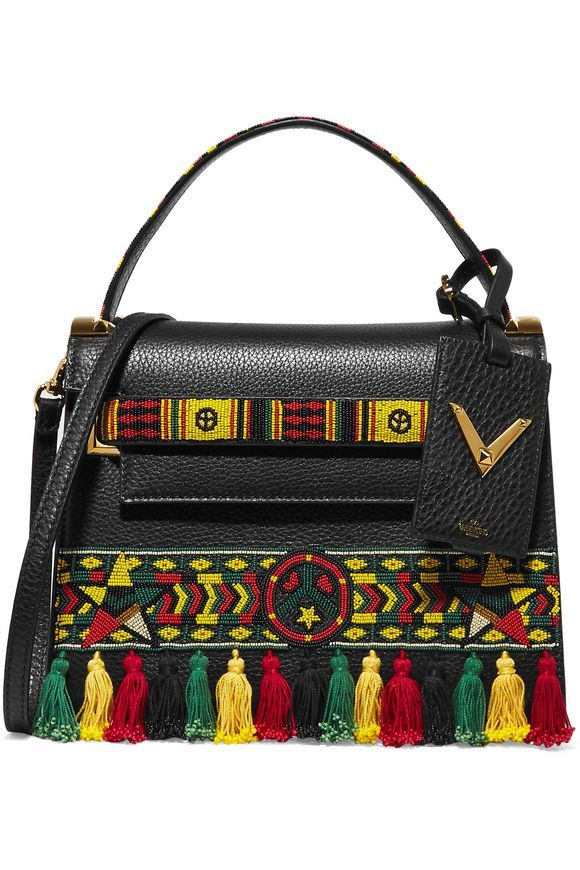 My Rockstud embellished textured-leather tote   VALENTINO   Sale up to 70% off   THE OUTNET