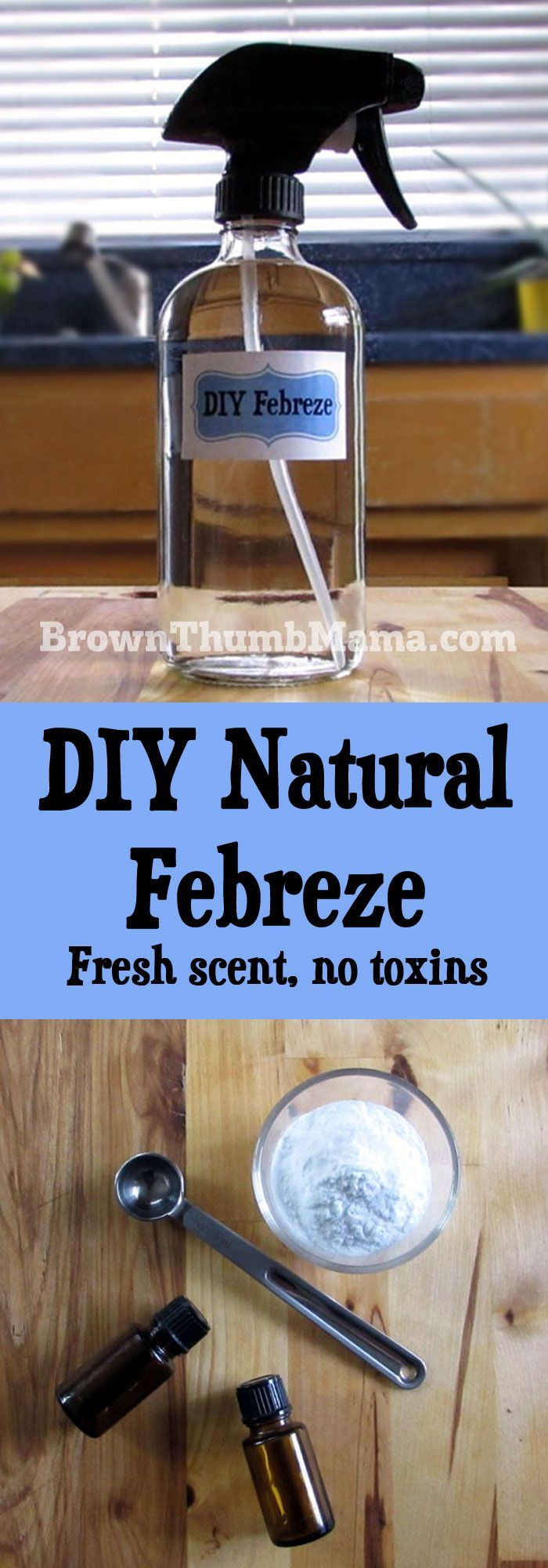 DIY Natural Febreze It's easy to make your own natural air freshener spray, …