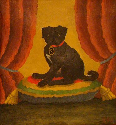 Sandokán, 2003, óleo/lienzo, 27x26 cm.