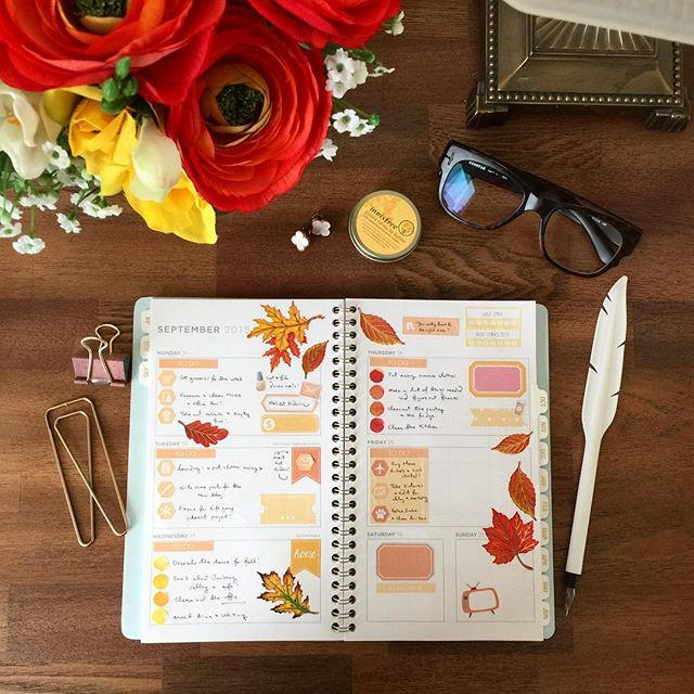 Next week's spread in celebration of the start of Autumn. This is my mint colored mead planner in the Cambridge Edition, from Target! #planwithme #plannercommunity #plannergoodies #erincondrenstickers #plannersupplies #etsysticker #etsystickershop #eclp #stickers #stickerobsessed #plannernerd #planneraddict #plannerstickers #plannerlife #plannergeek #plannerobsessed #plannerdecoration #plannerjunkie #planner #erincondrenlifeplanner #theorganizingcompanion