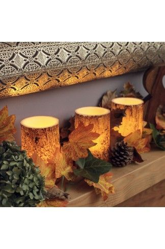 These three Bark Effect candles are just perfect for Autumn and Winter, giving you that rustic feel when lit on the cold evenings.