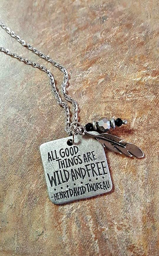 Hey, I found this really awesome Etsy listing at https://www.etsy.com/listing/477639282/silver-quote-pendant-all-good-things