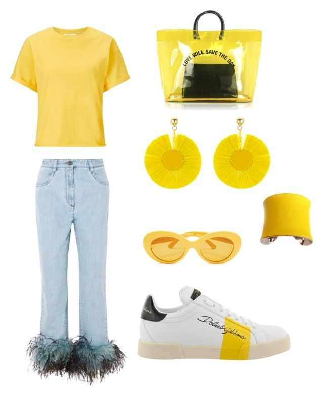 """""""Summer day"""" by denisapurple on Polyvore featuring Dolce&Gabbana, Oscar de la Renta, Prada, Miss Selfridge, UNEARTHED and Dsquared2"""