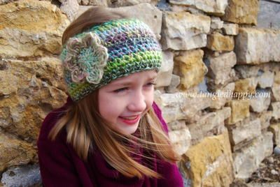 One Hour Boho Chic Crochet Ear Warmer - want this!
