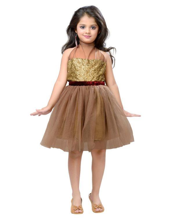 Beige & Sequins Dress from K&U Visit our website: www.kandukids.com
