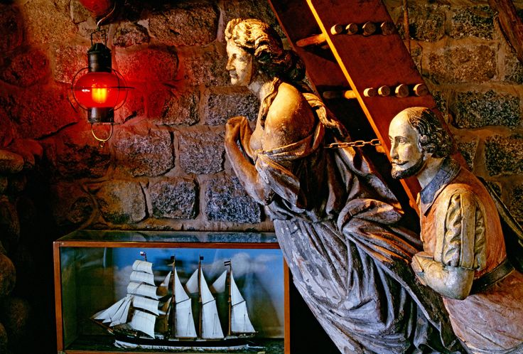 Thomas Hoepker, 1995. Chile, Isla Negra, House of poet and Nobel Prize winner Pablo Neruda on the Pacific coast. Collection of antique sailboat-figureheads.