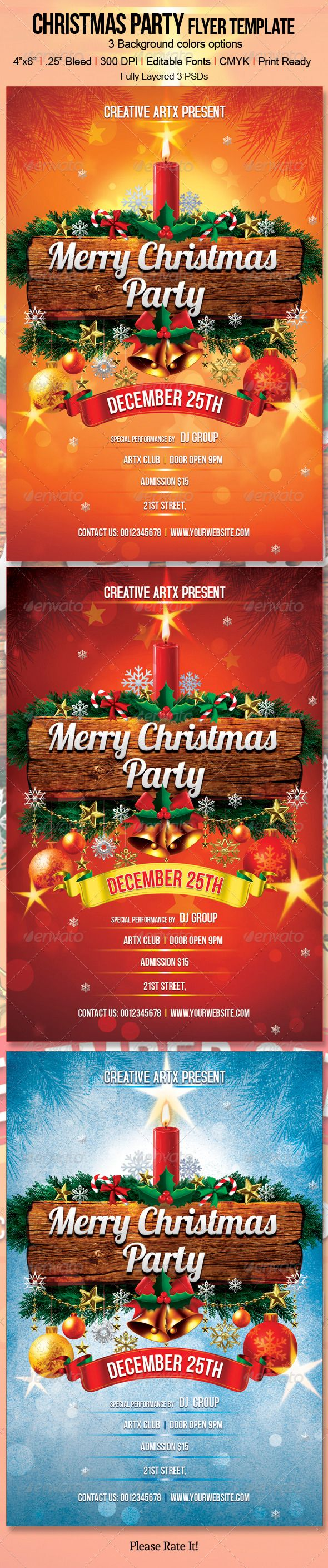 17 best images about event posters christmas christmas party flyer template