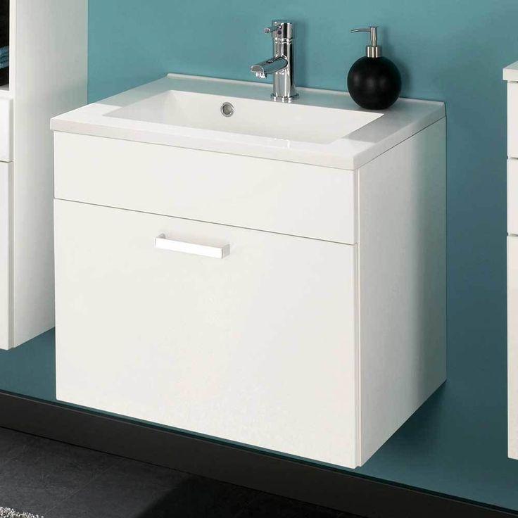 Die besten 25+ Waschbeckenunterschrank weiß hochglanz Ideen auf - badezimmer 60 cm