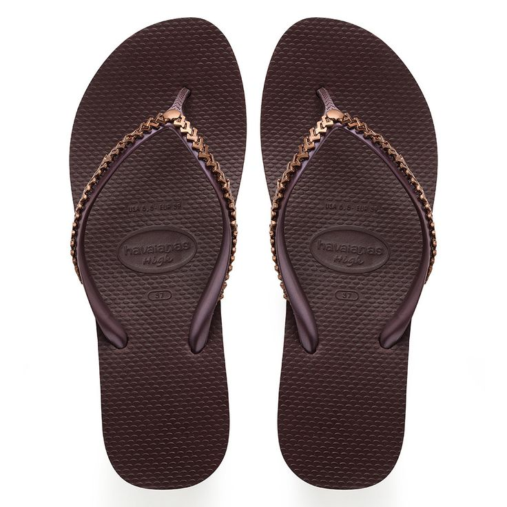 Havaianas High Metal Grega Sandal Grape Wine  Price From: 82,12 $CA  https://flopstore.ca/ca_french/new-arrivals/havaianas-high-metal-grega-sandal-grape-wine.html