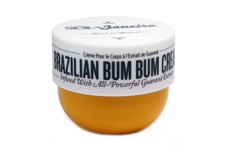 """Bums are a nation-wide obsession in Brazil – hence the teeny weeny bikinis. Causing a bit of a stir recently is Sol de Janeiro's Bum Bum cream which utilises the derriére-enhancing properties of Guaraná. Don't worry, she'll thank you! Sol de Janeiro Brazilian Bum Bum Cream, £44,   [link url=""""http://www.libertylondon.com/uk/brands/s/sol-de-janeiro/""""]libertylondon.com[/link]"""